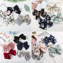 Bohemia Barrette Floral Hairgrips Large Bow Hairpin For Women Girl Ladies Flower Hair Clips Korean New Arrival Accessories