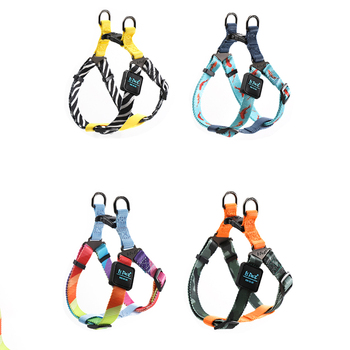 Pet Dog Harness Adjustment Colorful Four Sizes Easy Control Handle for Small Medium Large Dogs Training Walking Vest Harness