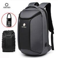 OZUKO Neue Anti theft Männer Reise Große Kapazität Wasserdichte Rucksäcke USB Ladung Reisetasche Männlichen 15,6 zoll Laptop Rucksack Mochila