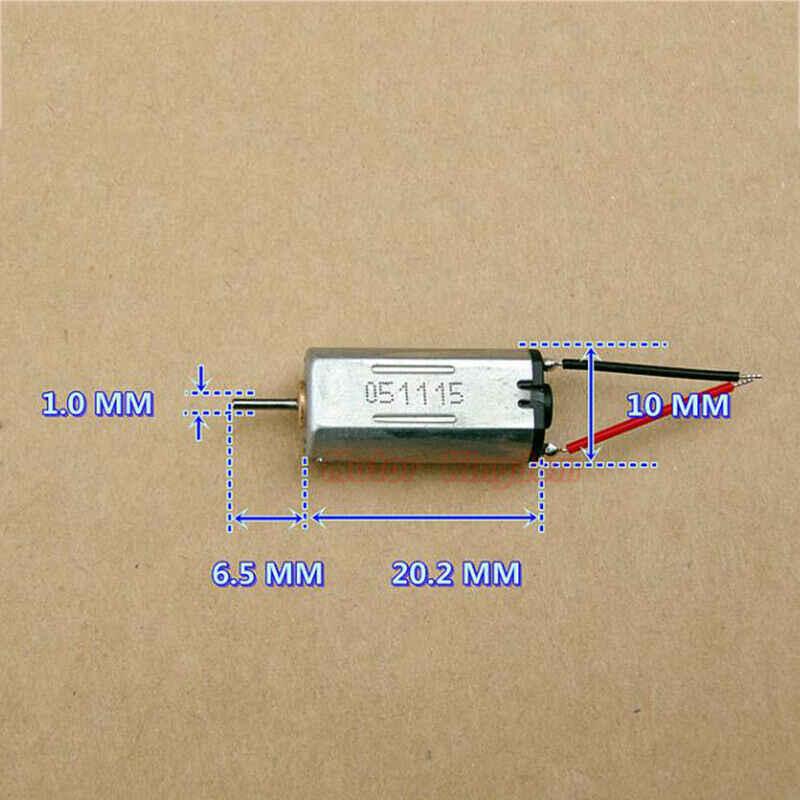 8mm * 10mm Mini FF-M30 électrique moteur à courant continu cc 3V 3.7V 4.2V 32000 tr/min haute vitesse moteur 1mm arbre bricolage jouet passe-temps modèle pièces