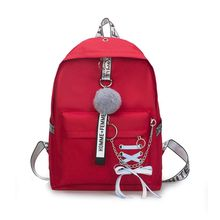 Fashionable New Ribbons Bowknot Backpack Laptop Bag Canvas Shoulder Bags for Teen Girl School Travel Daypack Camping