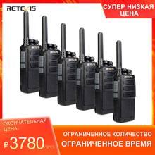 6 stücke RETEVIS RT28 Walkie Talkie PMR Radio VOX PMR446 Micro USB Lade Tragbare Mini Two Way Radio Walkie talkie Transceiver