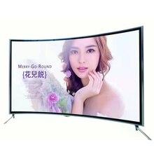 Изогнутый экран светодиодный wifi tv 65 ''дюймовый смарт-ТВ Android система мульти langugs tv