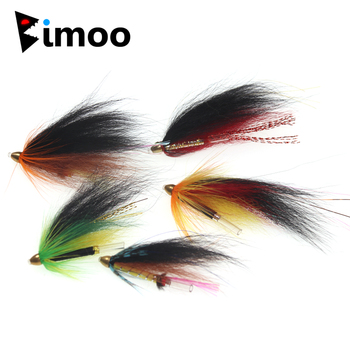10 PCS 5 Color Conehead Tube Flies for Salmon Trout And Steelhead Fly Fishing Bait image