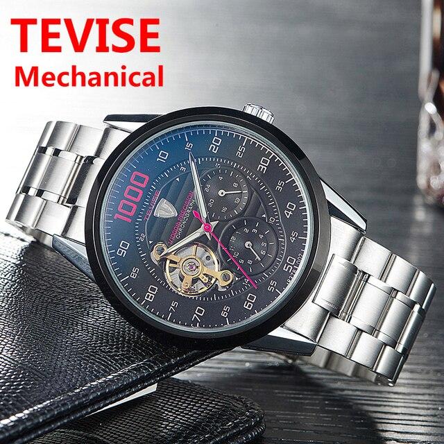 Tevise, relojes mecánicos de moda de lujo para hombre, reloj automático, reloj de negocios para hombre, reloj de pulsera impermeable, reloj Masculino 2019