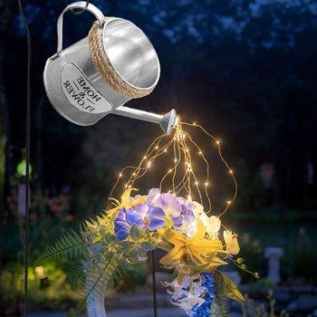 Lampa ogrodowa kreatywna konewka zraszacze typ gwiazdkowy prysznic ogrodowa lampa artystyczna dekoracja ogrodowa lampa ogrodowa na zewnątrz tanie i dobre opinie ICOCO CN (pochodzenie) NONE Z żywicy lighting 3-5 metrów kwadratowych Multicolor Christmas night light Home Decor LED Strip