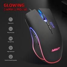 4 cores com fio rgb iluminação definir o jogo usb wired 3200dpi ajustável gamer mouse mouse computador portátil 7 botões