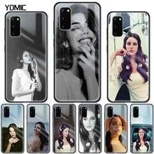 Lana Del Rey de vidrio templado para Samsung Galaxy S21 S20 FE S10 Nota 10 Lite 20 Ultra S9 más S8 S10e cubierta Del teléfono