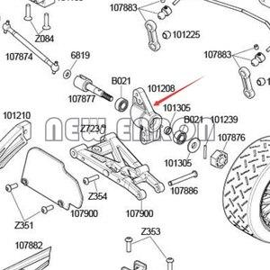 Image 5 - NEW ENRON 6P Metal 101208 101209 Steering Front&Rear Hub Carrier Knuckle Set For Rc 1/10 HPI WR8 3.0 Flux KEN BLOCK Bullet ST MT