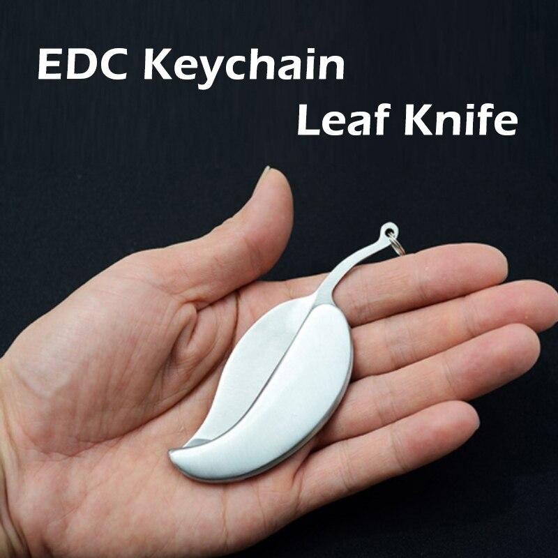 1 шт для любителей активного Нержавеющаясталь лист Ножи Портативный инструмент Керамический Мини фрукты Ножи Карманный складной Ножи