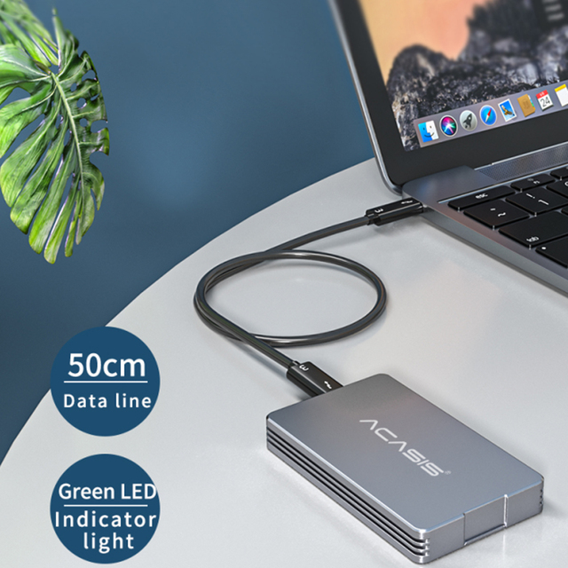 Acasis USB4.0 M.2 SSD Enclosure 40Gbps M2 NVMe Case Compatible with Thunderbolt 3 4 USB 4.0 3.2 3.1 3.0 Type C  For Laptop 5