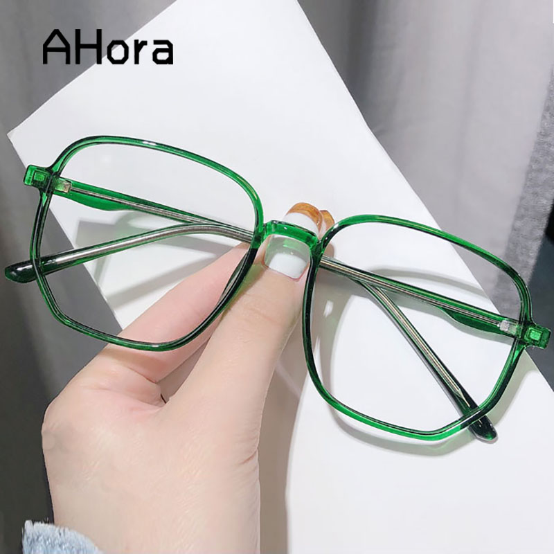 Ahora Oversized Anti Blue Light Computer Eyewear Frame For Women&Men Square Optical Spectacle Glasses Eyeglasses Frame Unisex