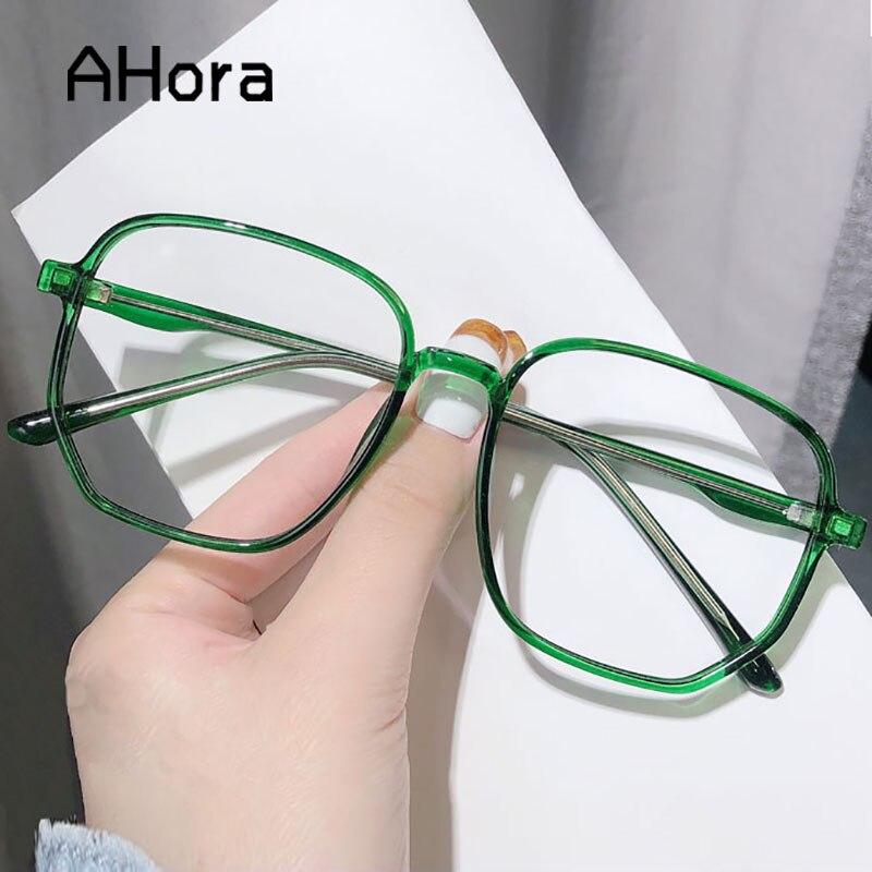 Ahora Oversized Anti Blue Light Computer Eyewear Frame For Women&Men Square Optical Spectacle Glasses Eyeglasses Frame Unisex