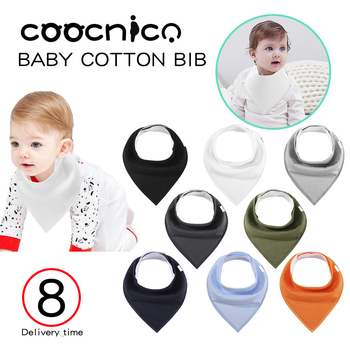 8pcs/Set Baby Bibs Girls Solid Color Baby Bandana Dribble Bibs Soft Natural Cotton Baby Drool Bib for Drooling Super Absorbent premium baby bandana bibs extra soft natural cotton baby drool bib for drooling and teething super absorbent baby shower gift