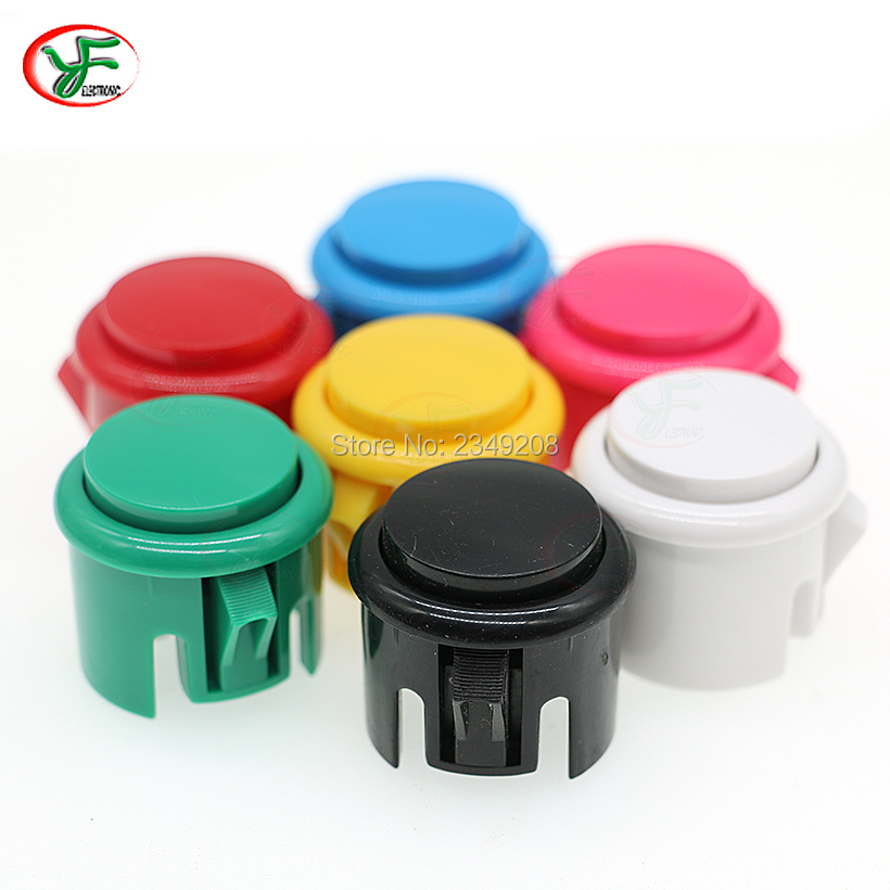 1PCS BAOLING 24mm & 30mm Push Button Round Arcade Start Button Built-in Micro Switch Copy Sanwa Joystick DIY Kit(China)