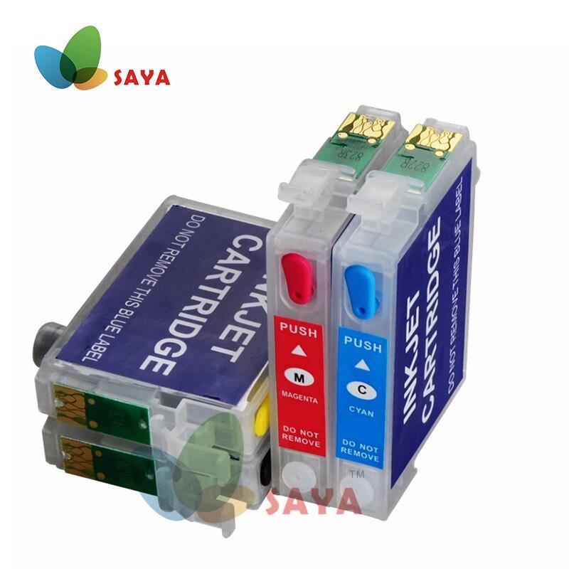 2 Set T1281 Refill Ink Cartridge for Epson Stylus S22 SX125 SX130 SX230 SX235W SX420W SX425W SX430W SX435 438W 440W 445W printer