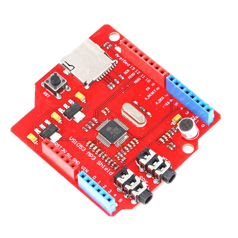 VS1053 MP3 Module Power Amplifier Decoder Board Onboard Recording Function With TF Card Slot For Arduino UNO R3 One VS1053