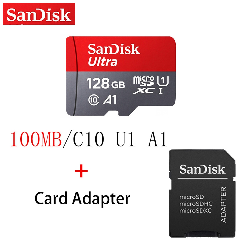 Original SanDisk Micro SD Card Memory Card 16GB 32GB 64GB 128GB MicroSD Max 100M/s Uitra C10 TF Card For Tablets Cameras Phones