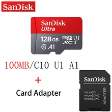 Original SanDisk Micro SD Card Memory Card 16GB 32GB 64GB 128GB MicroSD Max 100M/s Uitra C10 TF card For Tablets Cameras Phones все цены