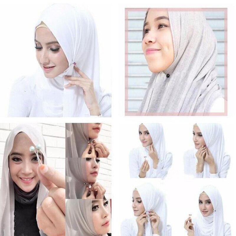 New Abaya Women's Accessoires Hijab Scarf Islamic Clothing Turban Chiffon Cotton Jersey Hijabs Accessorie Muslim Scarf Clip