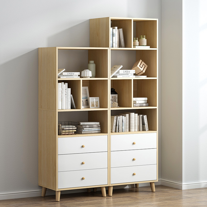 Simplicity Bookcase Bookshelf Simple Floor Bedroom Students Home Living Room Storage Small Bookcase Sub-Storage Shelf Province S