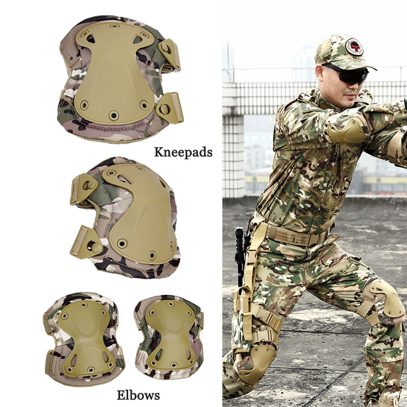 Military Tactical KneePads Elbow Pads Army SWAT Special Forces Airsoft Combat Protective Gear Outdoor Hunting Skating Safety