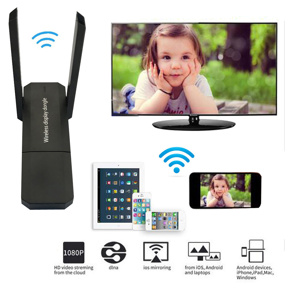 Wireless WiFi Display Adapter Screen Share Airplay HDMI Stick For IPhone IOS Android For Huawei Xiaomi 9 Phone To TV Projector