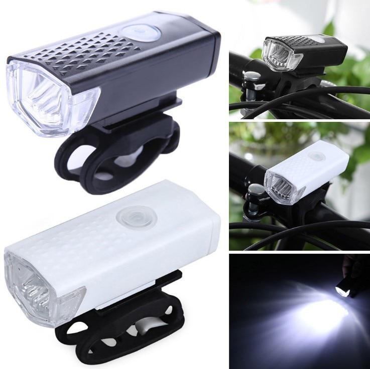 Bike Headlight Bicycle Front Light USB LED Flashlight 300 Lumen 3 Mode Bike Lights Lamp Lantern Cycling Accessories