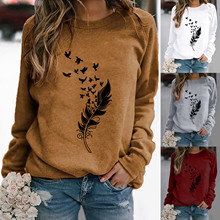 Hoodie Women Oversize S-3XL Fashion Winter Womens Casual Long Sleeve Tops Ladies Print Sweatshirt high quality materials c50 cheap WOCLEILIY Polyester CN(Origin) Hoodies Regular Full STANDARD Woven Ladies sweater 250g Pullovers Ages 18-35 Years Old O-Neck