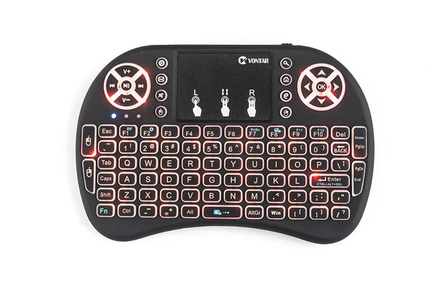 VONTAR i8 Wireless Keyboard Russian English Hebrew Version i8+ 2.4GHz  Air Mouse Touchpad Handheld for Android TV BOX  Mini PC 4