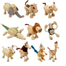 Wooden small animal solid wood doll model toy children forest puppet creative ornaments