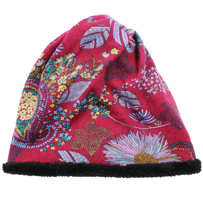 ALTOBEFUN Girl Scarf Warm Women Skullies Beanies Fashion Brand Autumn Winter Vintage Design Dual-use Hats For Ladies  BHT058