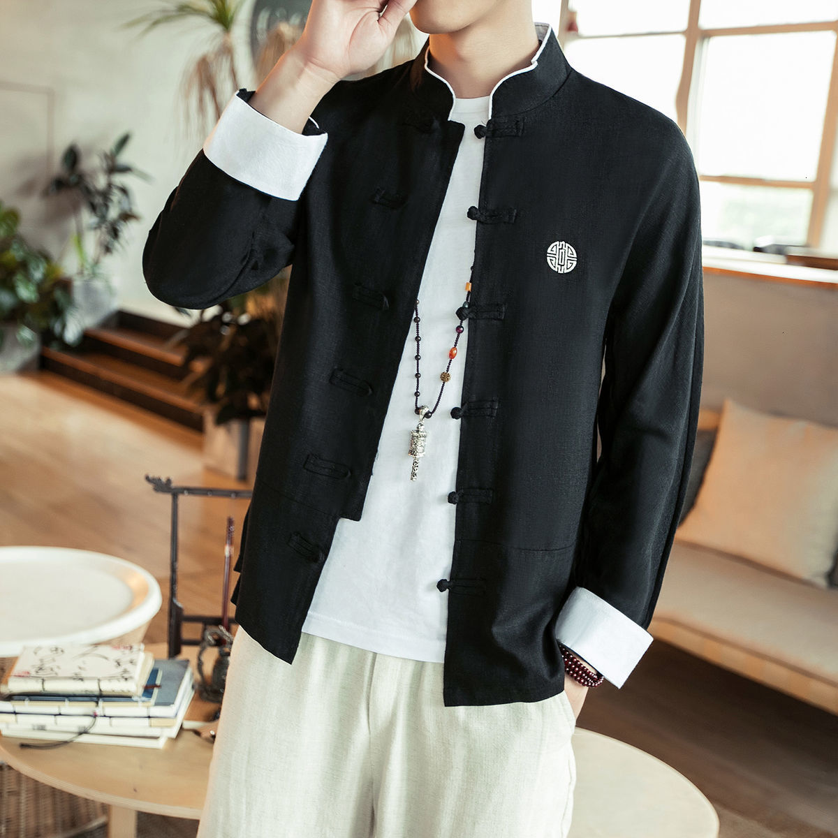 Best Price High quality black long sleeve men tops near me and get free  shipping - a164