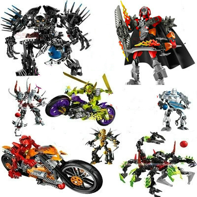Out Of Print Hero Factory StarWar Soldiers Robots  Hero Factory 4 5 6 Von Nebula Bionicle DIY Bricks Toys