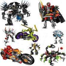 אזל גיבור מפעל StarWar חיילים רובוטים מפעל גיבור 4 5 6 פון ערפילית Bionicle DIY צעצועי לבנים