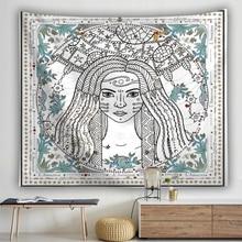 Sun Moon Tarot Wall Hanging Tapestry India Mandala Divine Witchcraft Macrame Home Decoration Yoga Mat Shawl Blanket