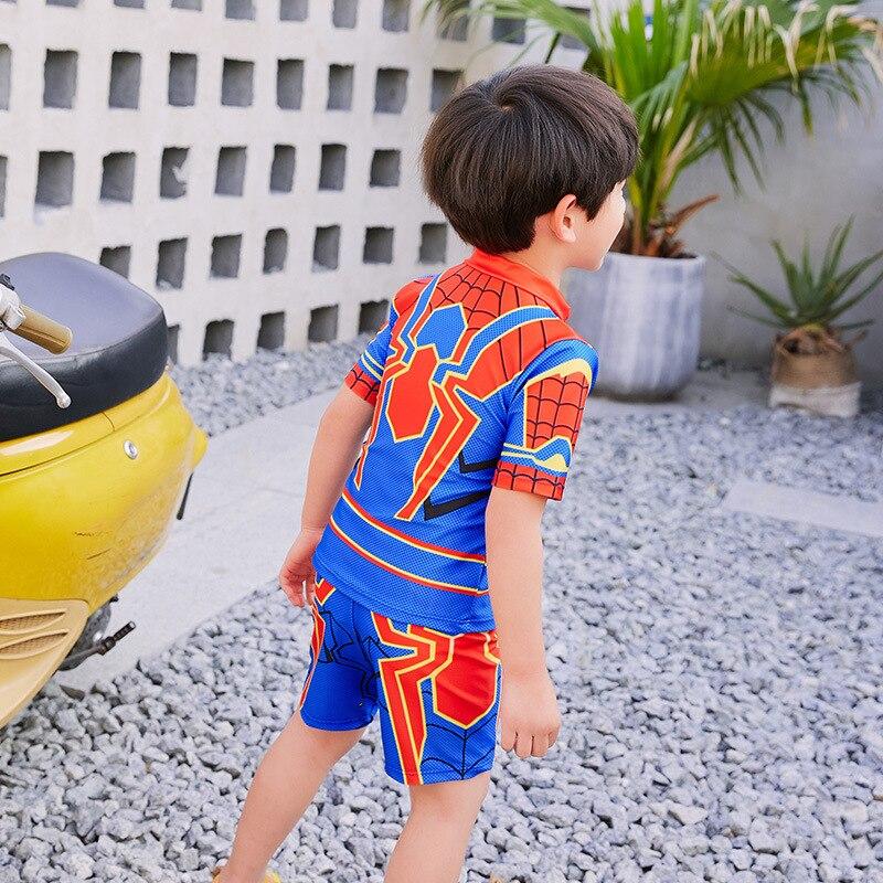 2019 KID'S Swimwear Boy Split Type Tour Bathing Suit BOY'S Digital Printing Spider-Man Cartoon Baby Swimsuit