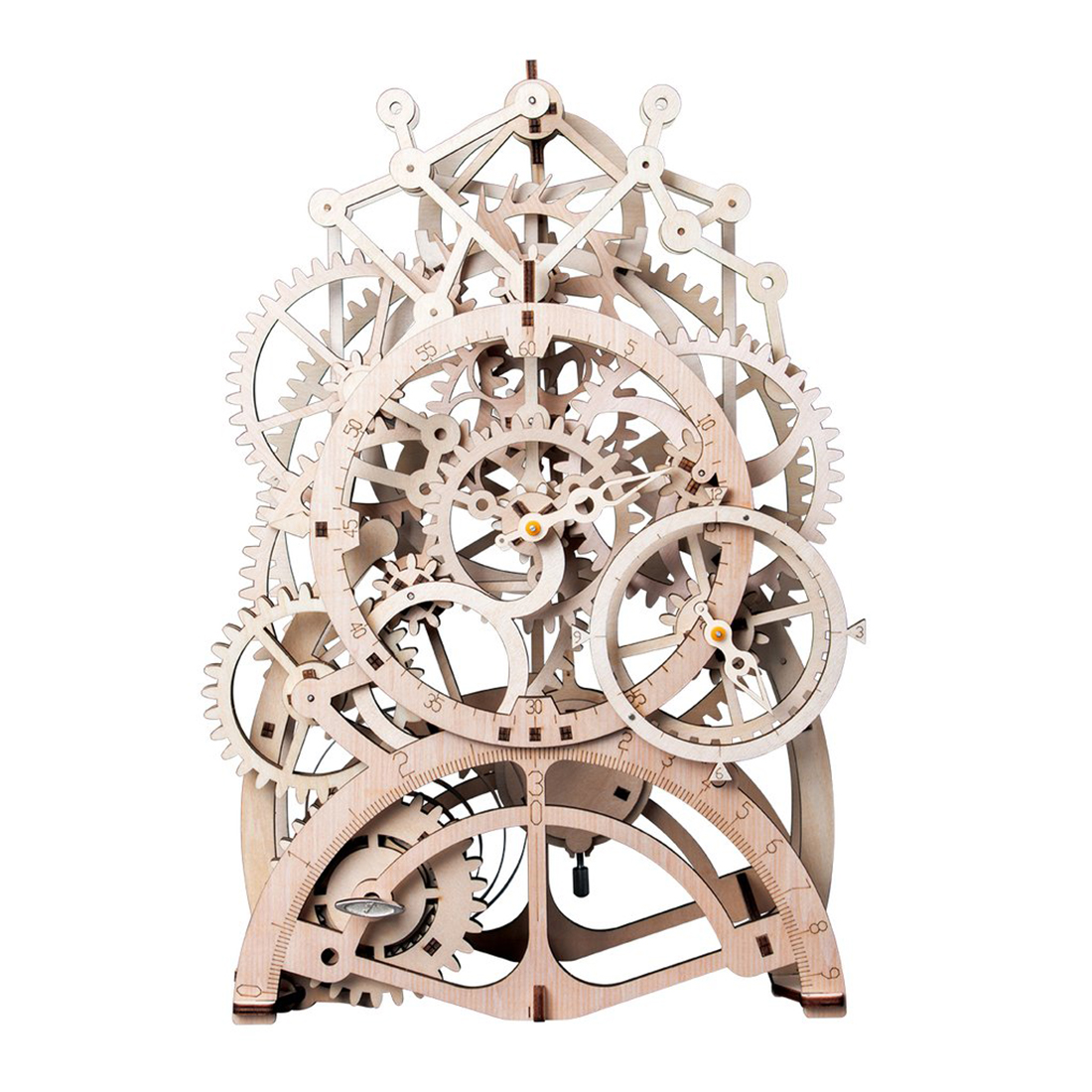 1pcs Stem Assembly Toy For Kids 3D DIY Puzzle Movement Assembled Wooden Pendulum Clock  Gifts 2020 New Arrival