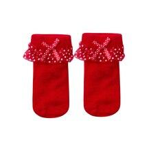 Кружевные носки для маленьких девочек Мягкие хлопковые носки-пачки в горошек короткие носки до щиколотки для маленьких девочек от 0 до 12 месяцев