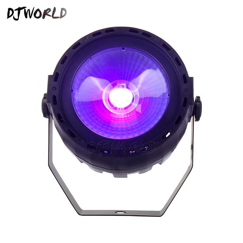 Djworld Wireless Romote Control LED Par COB 30W RGB 3in1 Or UV Light DMX 512 With Strobe Stage Light For DJ Party Disco Lights
