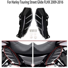Средняя рамка воздушный дефлектор планки совместимый для Harley Touring Road King Tri Glide 2009- черный