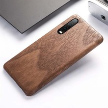 Ultra-thin Luxury Walnut Wood Bamboo Rosewood Wooden Cover For Huawei P30 Back Phone Case P30Pro KS0336