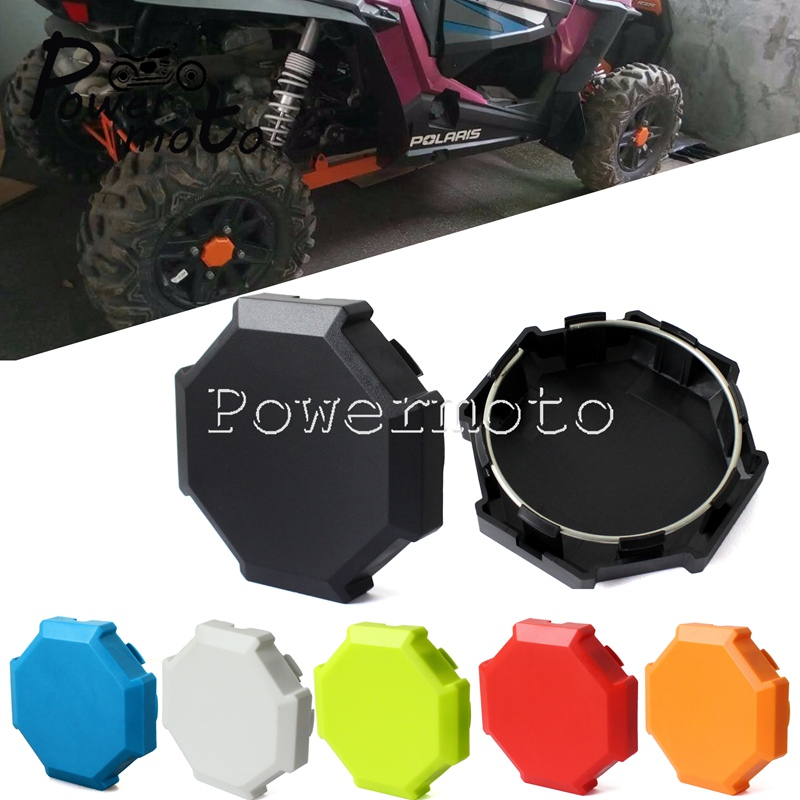 5 Color 2x Front Rear Wheel Tire Rim Hub Cap Cover Protector for Polaris Sportsman RZR 900 1000 XP Turbo Wheel Center Plug Guard