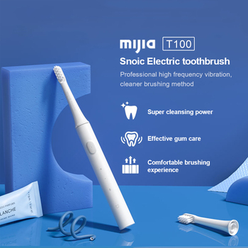Mijia T100 Sonic Electric Toothbrush Adult Ultrasonic Automatic Toothbrush USB Rechargeable Waterproof Tooth Brush For Xiaomi free dhl or ems rechargeable ultrasonic intelligent adult electric with antibacterial silicone brush fully automatic toothbrush