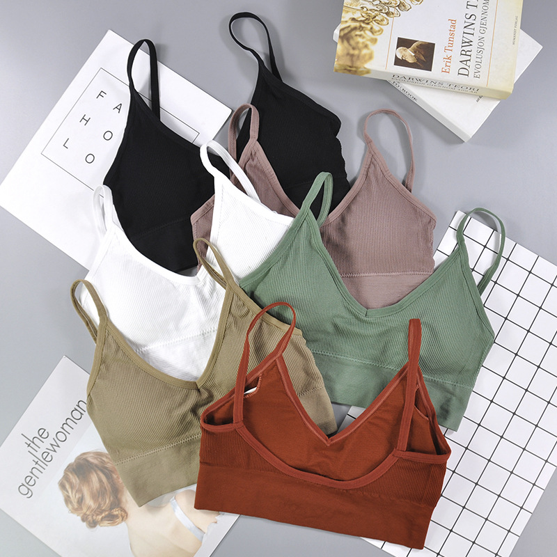 CHRLEISURE New Push Up Bra Outer Wear Base High Elastic Seamless Underwear Big U Beauty Back Wrapped Chest