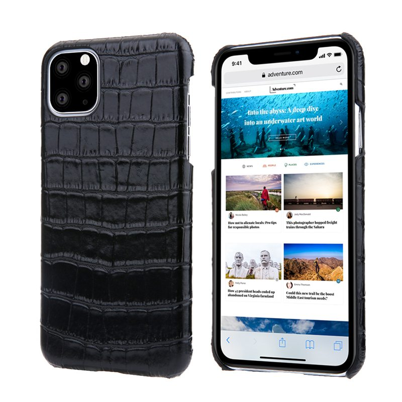 Luxury Genuine Cow Leather Case For iPhone 12 pro