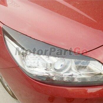 Real Crabon Fiber Head light Eyelid Eyebrow Cover Trim 1pair for  Chevrolet Malibu 2012-2015  T155 1