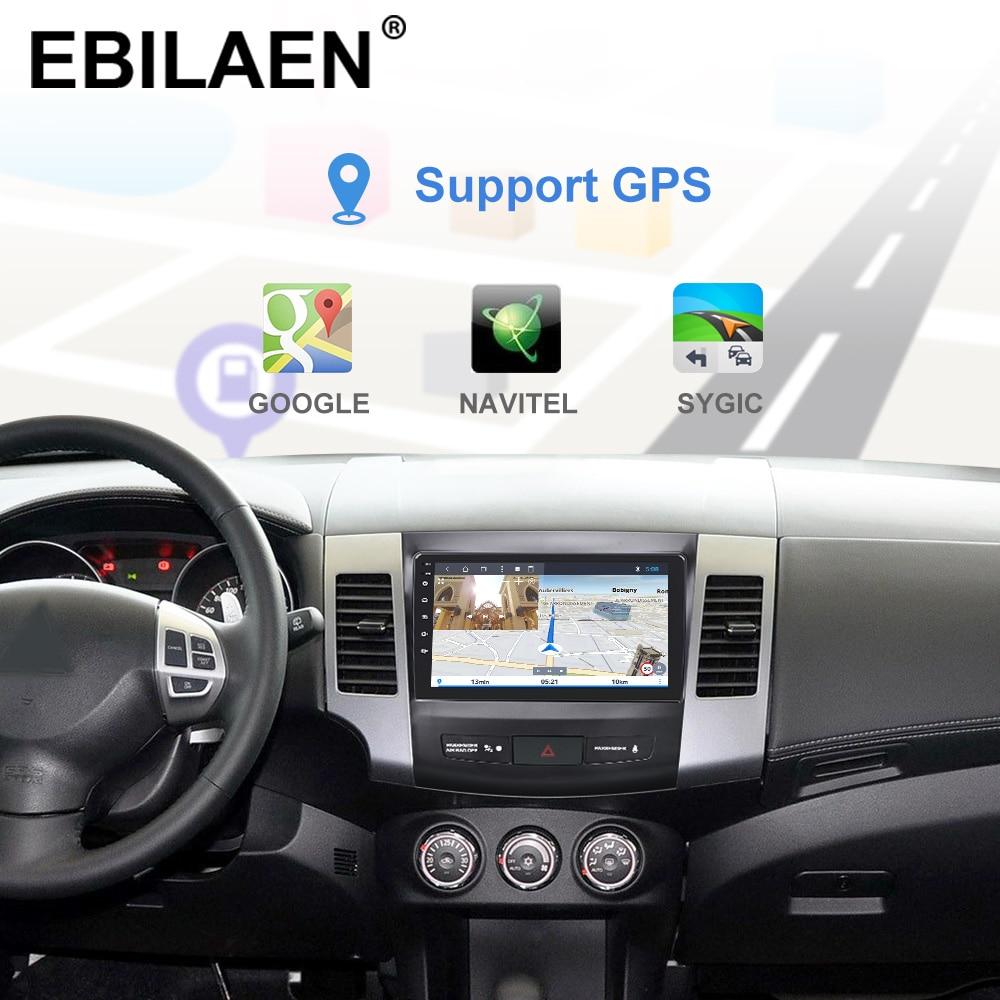 YUEMAIN автомобильный DVD мультимедийный плеер для Mitsubishi Outlander XL/2 2005-2014 2din Android 8,1 радио магнитофон навигация gps