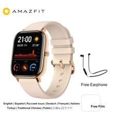 Amazfit gts smartwatch 5atm impermeável natação esporte rastreador gps bluetooth relógio inteligente com freqüência cardíaca huami wearable relógio