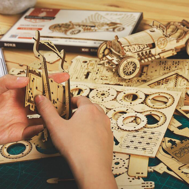 2020 DIY Manual Splicing Model Of 3D Children's Wooden Mechanical Transmission Puzzle Wooden Splicing Toys F Fast Ship 3